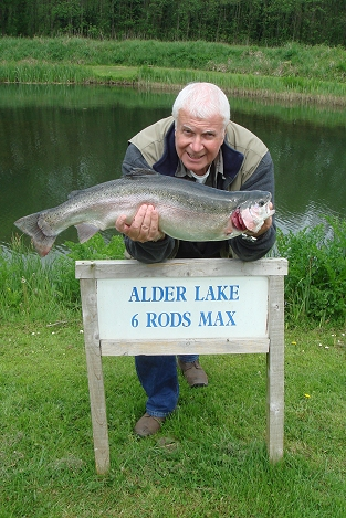 alder lake fly trout fishing at rockbourne
